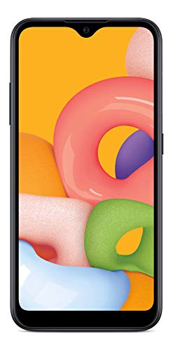 Total Wireless Samsung Galaxy A01 4G LTE Prepaid Smartphone - Black - 16GB - Sim Card Included -CDMA