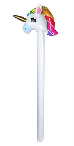 Islander Fashions Gonflable Licorne b�Ton 110cm Fantaisie Enfants ci-Dessous Up Jouet Animal Accessoire Une Taille
