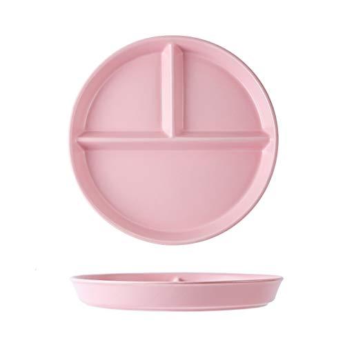 Platos Placa de cena de cena reductora de grasa de placa para una persona para una persona para comer tres rejillas y comidas divididas para uso doméstico Vajilla ( Color : B , Size : Small )