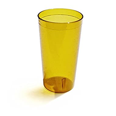New Star Foodserivce 46267 Tumbler Beverage Cups, Restaurant Quality, Plastic, 12 oz, Amber, Set of 12