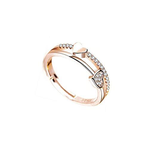 N-K PULABO Exquisito anillo en forma de corazón con diamantes de imitación anillo de compromiso, 1 popular calidad superior y creativo hermoso
