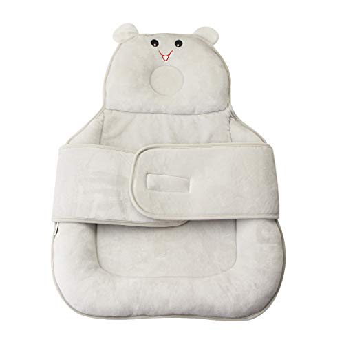 Baby Bed Matras, vocheer Baby Beschermend Kussen Hoofd Ondersteuning Baby Slaapkussen Preventie Anti-Platte Hoofd voor Pasgeboren Baby Leeftijd 0-12 Maanden, Grijs