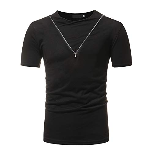 ZYYM Mens T Shirt Half Sleeve Round Neck Thermal Undershirt Men Short Sleeve Solid Crew Neck Soft T-Shirt Mens Short Sleeve T Shirts Cotton Plain T-Shirt Slim Fit Mens Casual T-Shirt