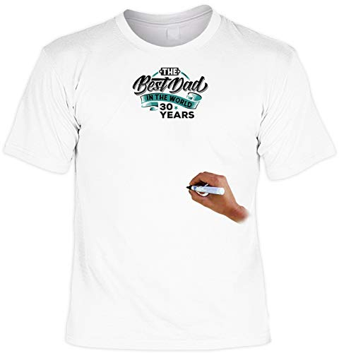 T-Shirt Inclusive Textilstift: The Best Dad in The World 30 Years