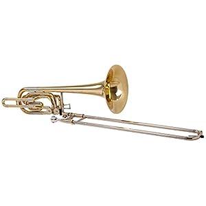 Classic Cantabile BP-60 Bassposaune (2 Ventile, Quartventil, Quintventil, Mundstück, Koffer/Gigbag)