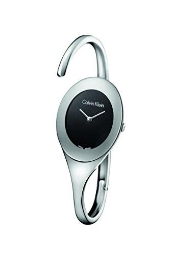 Calvin Klein Damen Analog Quarz Uhr mit Edelstahl Armband K4Y2L111