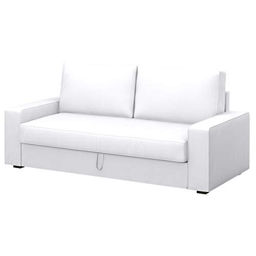 Soferia Bezug fur IKEA VILASUND 3er-Bettsofa Bezug, Stoff Eco Leather White