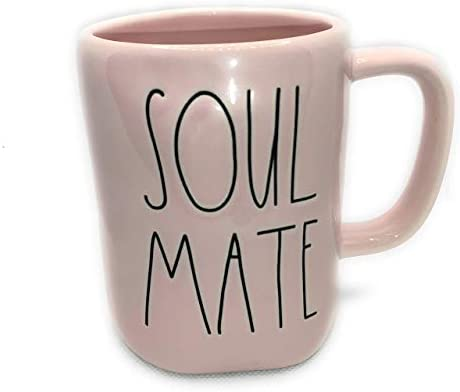 Rae Dunn SOUL MATE Mug allside pink ceramic very rare Great Valentine s day gift product image