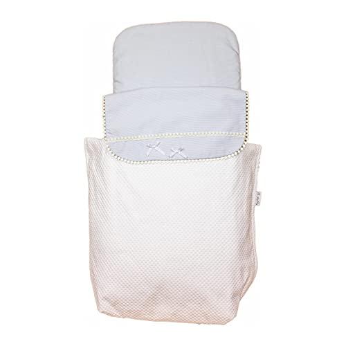 Cubre Capazo Universal Rosy Fuentes - Colcha Carrito Bebé - Cubre para Capazo - 0-celeste