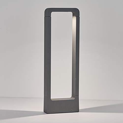 Topmo-plus Lámpara Exterior Poste Luz de jardín/Poste de Terraza 7W bridgelux LED COB está fija 770lm IP65 / Poste de Patio diseño/Camino/criadero/vereda aluminio fundido antracita 50CM 4000K