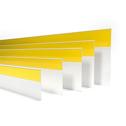 DQ-PP FENSTERLEISTE | 5m Länge | 70mm Breite | 1,5mm Stärke | Weiss | Fensterleisten Flachleisten Kunststoffleisten Profileleisten Abschlussleisten