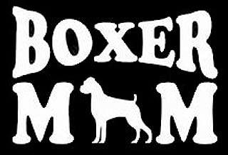 Boxer Mom Decal Vinyl Sticker Cars Trucks Vans Walls Laptop  White  5.5 x 3 in LLI383