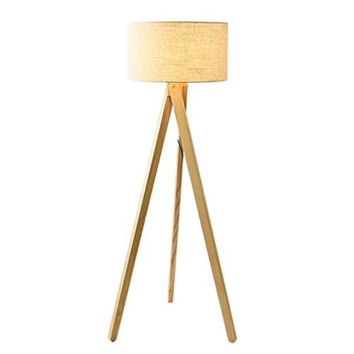 Indoor Massief hout statief vloerlamp – modern voor woonkamer kantoor 3 benen lamp – staande lamp hout patroon statief…