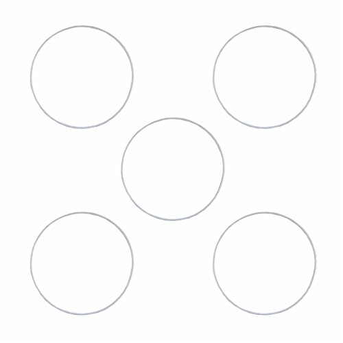 5 Drahtring Metallring weiss 25 cm z.B. für Traumfänger