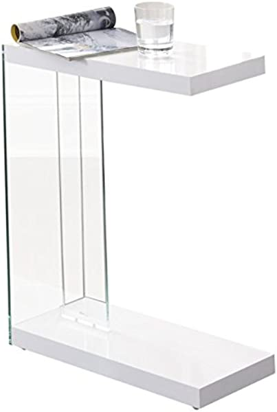 BOWERY HILL Chairside End Table In White