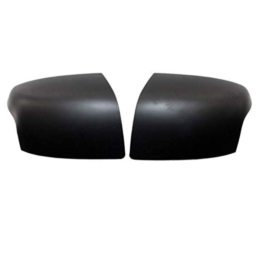 手のひら発見する名前を作る交換用カバーミラーカバー2PCS車のバックミラーは、2008年から2005年の自動車のリアビューミラーカバーの交換部品フィット感のためのフォードフォーカスをカバー ドアミラーカバーキャップ (Color : Matte Black)