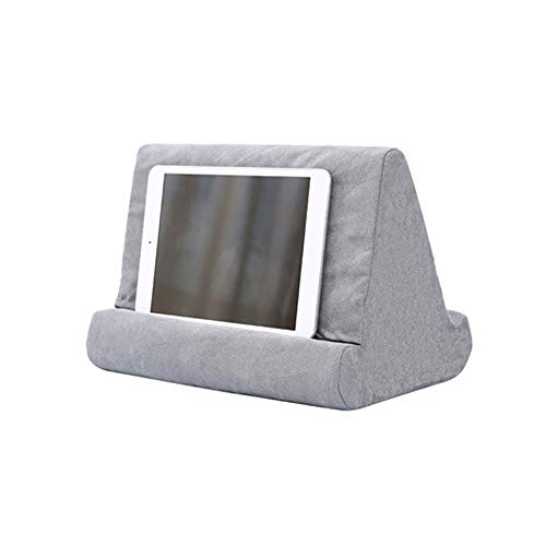 New Compressible Tablet Stand Pillow Holder Multi Angle Soft Cushion Pillow Stand for iPad Tablet Book and E-Reader (Little Gray)