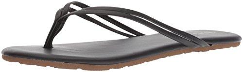 Volcom Damen Wrapped UP Double Strappy Sandale, schwarz, 38 EU