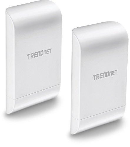TRENDnet 10dBi Wireless N300 Outdoor PoE Pre-configured Point-to-Point Bridge Bundle Kit, TEW-740APBO2K, 2 x Pre-configured Wireless N Access Points, IPX6 Rated Housing, Built-in 10 dBi Antennas white