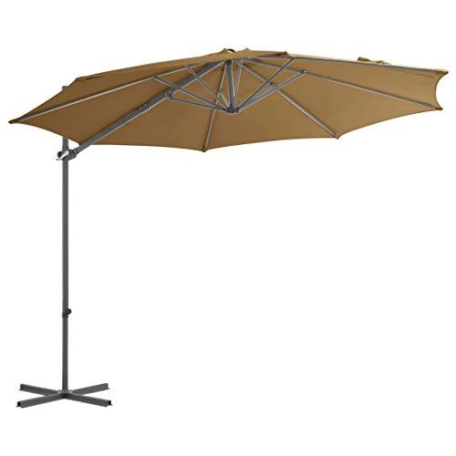 Tidyard Ampelschirm mit Stahlmast Taupe 300 cm Home & Garden Lawn & Garden & Balcony Parasols