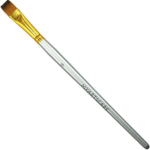 Taklon Synthetic Brushes - Short Handle Replacement Brushes … (Bright 1/2')