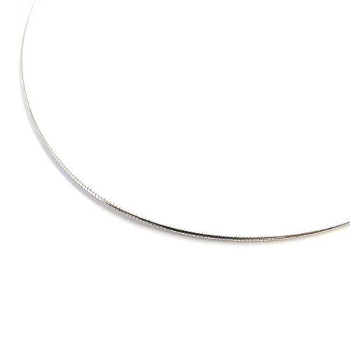 Les Trésors De Lily [M7288] - Silber halskette 'Omega' - 40 cm 1 mm (rhodium).