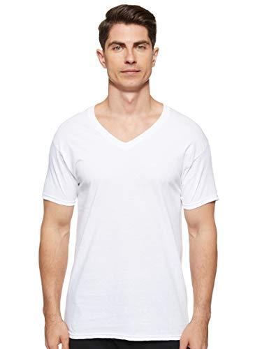 Hanes Herren-T-Shirt, V-Ausschnitt, 3er-Pack - Weiß - X-Groß