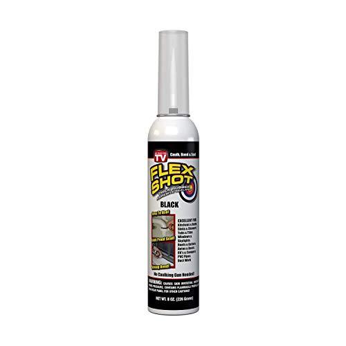 Flex Shot Rubber Adhesive Sealant Caulk, 8-oz, Black