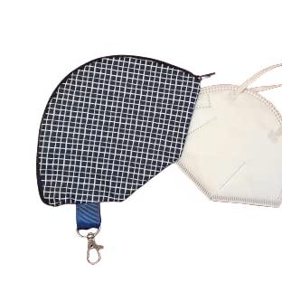 Maskentasche | Hülle | Etui | Aufbewahrung | Mundschutz (Fischgrät schwarz)