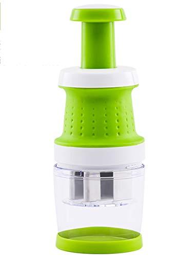 Manual Garlic Press Premium Food Chopper And Dicer Chop Veggies With Ease Best Utensils Household,Green,L