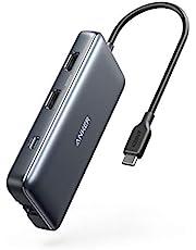 Anker PowerExpand 8-in-1 USB-C PD メディア ハブ 4K対応 複数画面出力 HDMIポート 100W Power Delivery 対応 USB-Cポート USB-A ポート 1Gbpsイーサネットポート microSD & SDカード スロット搭載 テレワーク リモート 在宅勤務