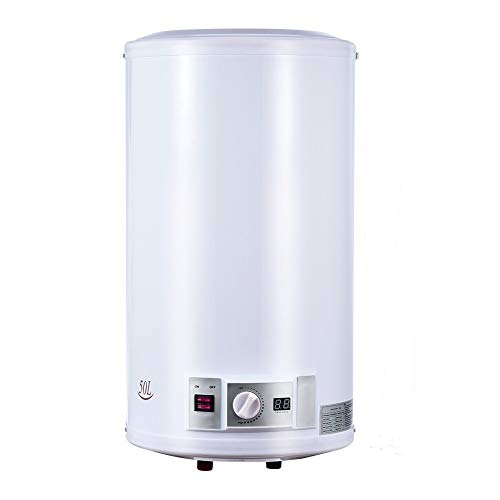 Calentador de Agua Electrico 50 L 220 V 2000 W Deposito Cilindrico para Uso Comercial y Privado, para Interiores y Exteriores, Restaurantes o Salones de Peluqueria