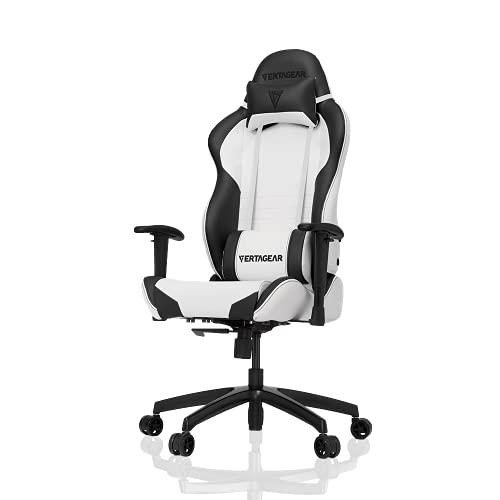 VERTAGEAR Gaming Chair Racing Seat, S-Line Slim SL2000 BIFMA Cert, White/Black