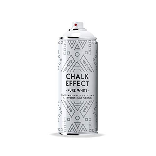 COSMOS LAC Chalk Effect Spray - Hochwertige Kreide-Sprühfarbe - perfekt für DIY Projekte (Pure White)