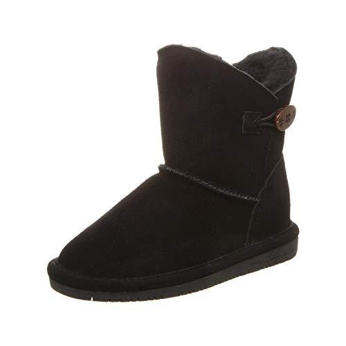 BEARPAW Girl's Rosie Fashion Boot, Black ii, 1 M US Big Kid