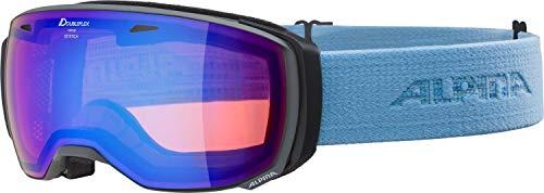 ALPINA ESTETICA HM Skibrille, Unisex– Erwachsene, grey-skyblue, one size