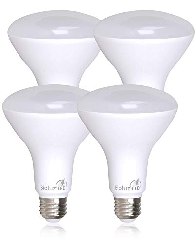 4 Pack Bioluz LED See Series BR30 LED Dimmable Bulb, 65W Replacement 650 Lumen, 2700K (Warm White), Indoor/Outdoor Flood Light E26 Medium Base, UL-Listed (Pack of 4)