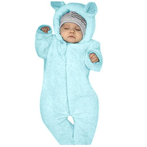 YWLINK Mameluco Bebe Niña Recien Nacido Pelele Niño Invierno Felpa Body Infantil Chaqueta con Capucha Niñas Mono de Nieve Ropa Niños Pijama para Bebés Abrigo de Algodón