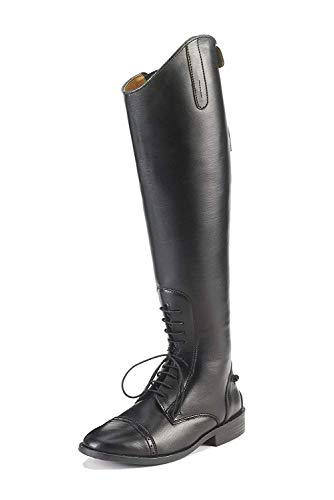 EQUISTAR Women's All-Weather Synthetic Field Equastrian Riding Boot, Black, 7 Regular