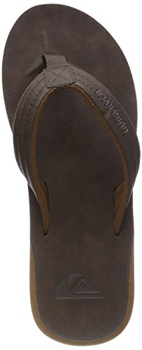 Quiksilver Herren Carver Nubuck - Sandals for Men Zehentrenner, Braun (Demitasse-Solid Ctk0), 44 EU