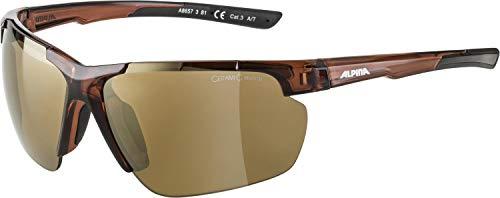 ALPINA Unisex - Erwachsene, DEFEY HR Sportbrille, brown transparent matt, One size