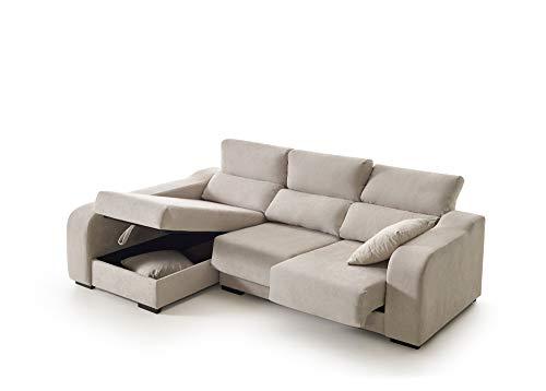 ECCOX - Sofá Chaise Longue Zafiro de 3 Plazas - Asientos De