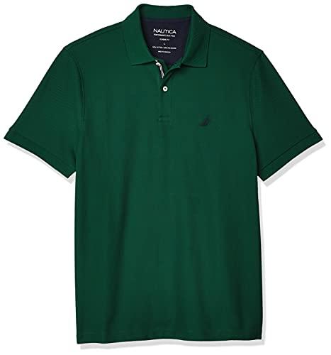 Nautica Men's Classic Short Sleeve Solid Polo Shirt, Tidal Green, X-Large