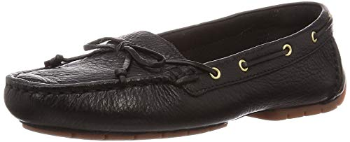 Clarks Damen Mokassin, Schwarz (Black Leather Black Leather), 41 EU