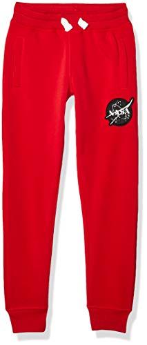 Southpole Jungen NASA Collection Fleece Jogger Pants Jogginghose, Rotes Logo, XL