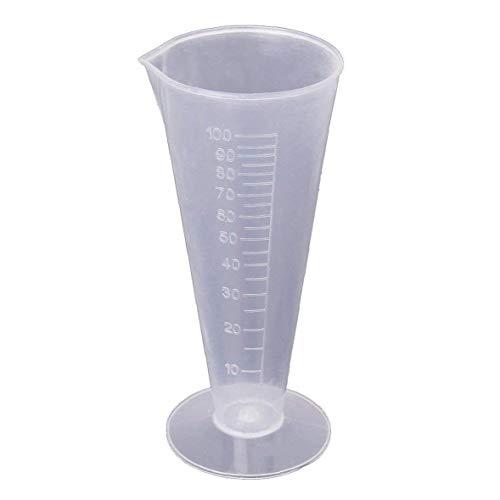 Capacidad 100 ml transparente de cocina de plástico Laboratorio Graduado volumétrica del cubilete recipiente de medición Laboratory Supplies herramienta Copa