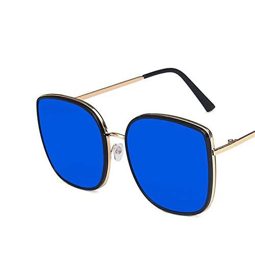 chuanglanja Gafas Sol Mujer Gafas De Sol Ojo De Gato Mujer Gafas Mujer/Hombre Gafas Vintage Mujer/Hombre Espejo-Color-Q