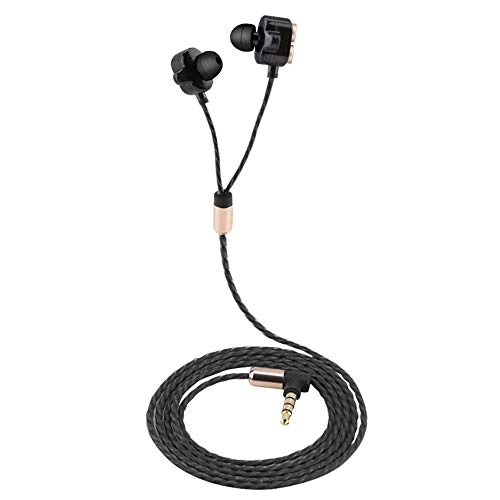 Sporthoofdtelefoon met draad, met microfoon, in-ear gespontwerp, geen druppel, krachtige bas, hoge geluidskwaliteit, 3,5 mm plug, voor training, buiten