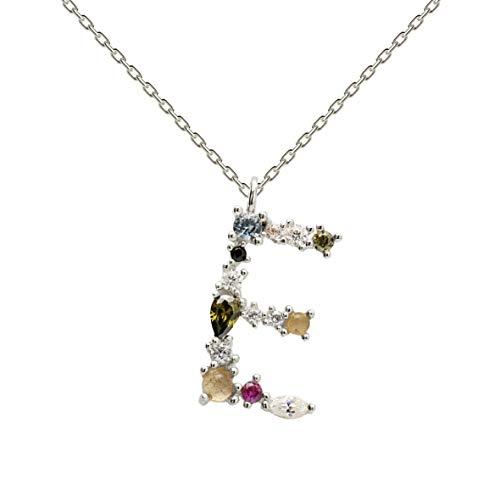 Collar P D PAOLA CO02-100-U plata, letra E