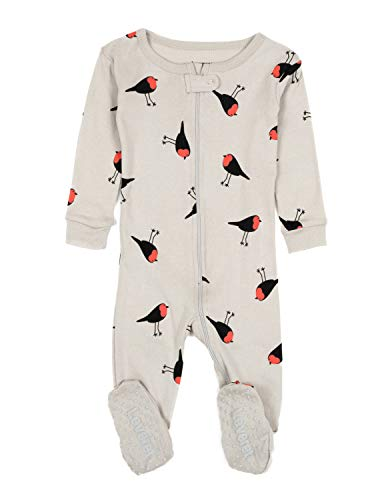 Leveret Kids Birds Baby Girls Footed Pajamas Sleeper 100% Cotton (Size 12-18...